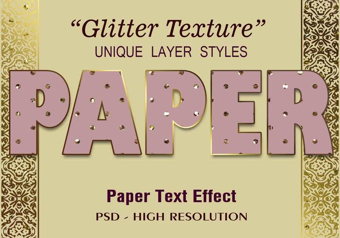 Glitter Paper Text Effect PSD Vol.6