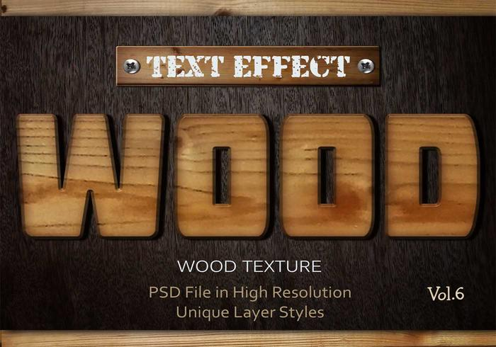 Hout Tekst Effect PSD Vol.6