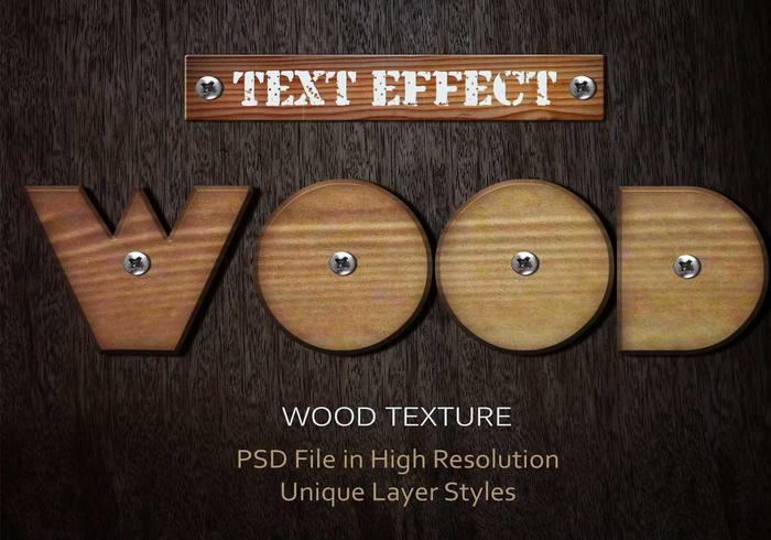 Wood Text Effect PSD Vol.7