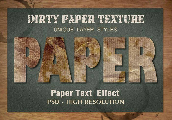 Old Dirty Text Effect PSD Vol.10