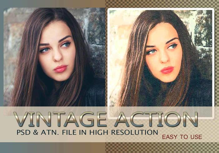 Effet photo vintage PSD & Action atn. Vol.7