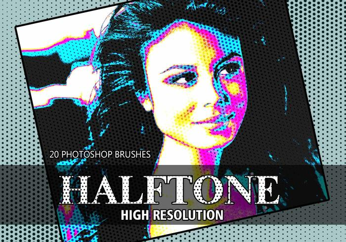 20 Halftone PS Brushes abr. vol.1