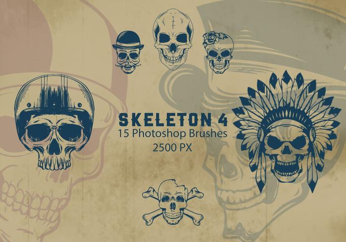 Skeleton Photoshop Brushes 4