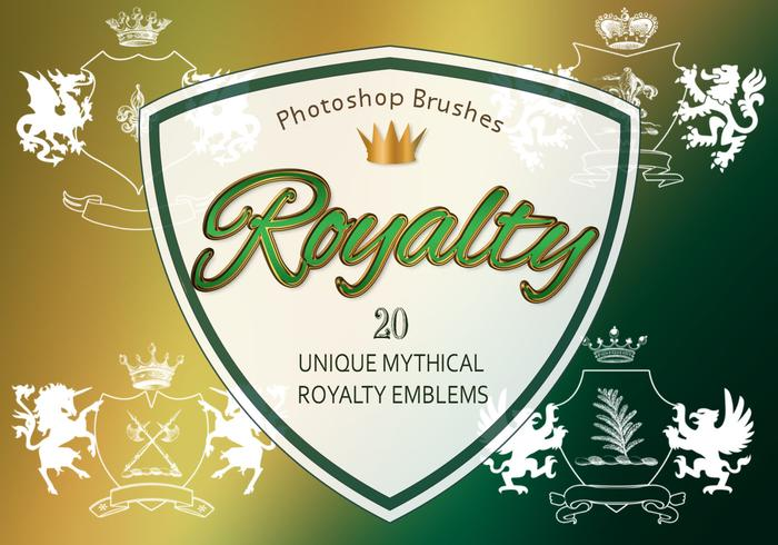 20 Royalty Emblem PS Brushes abr. vol.12