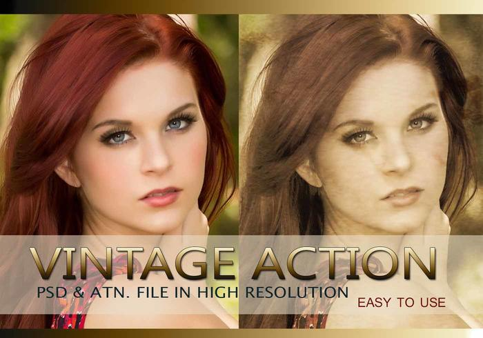 Effet photo vintage PSD & Action atn. Vol.2