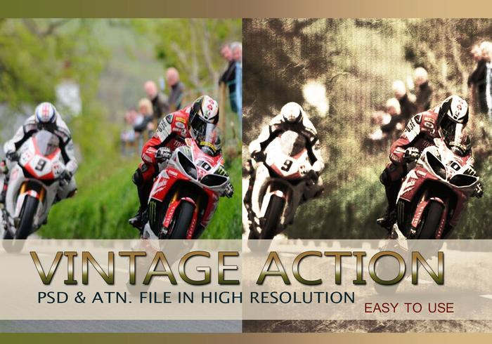 Effet photo vintage PSD & Action atn. Vol.6
