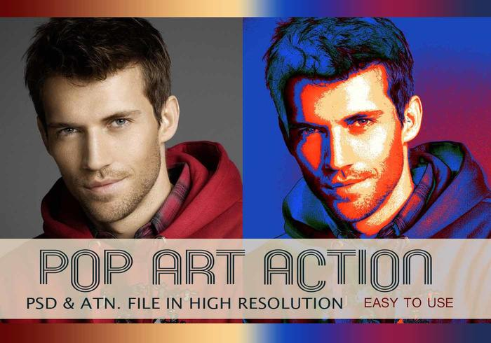 Pop Art Photo Effect PSD & Action atn. vol.3