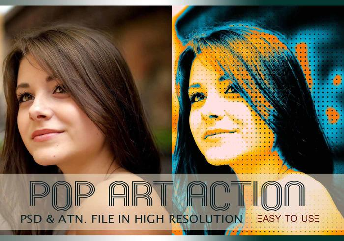 Pop Art Photo Effect PSD & Action atn. vol.5