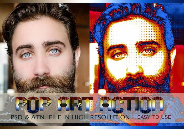 Pop Art Photo Effect PSD & Action atn. vol.6