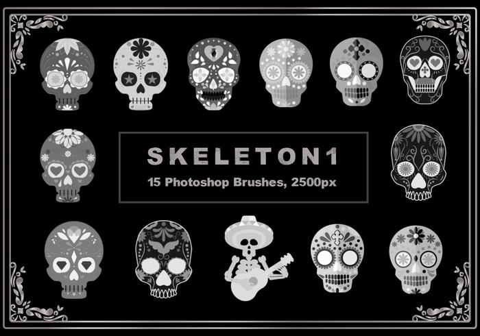 Pinceles de Photoshop Skeleton 1