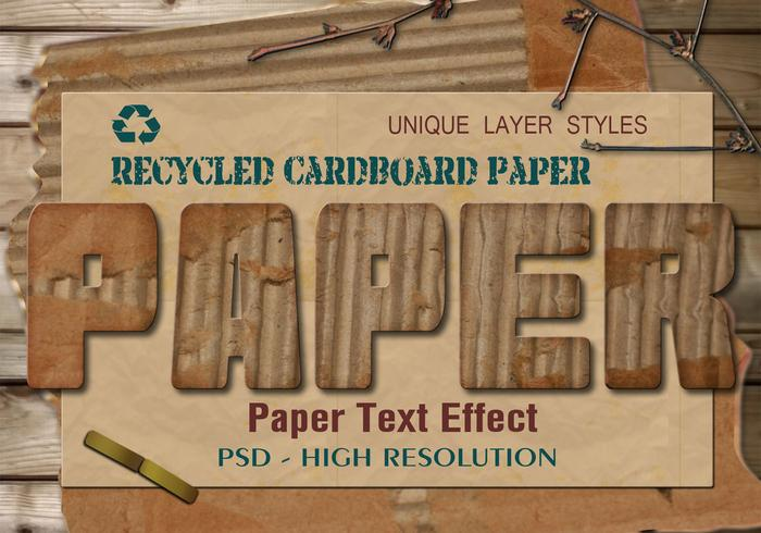 Cardboard Paper Text Effect PSD Vol.7