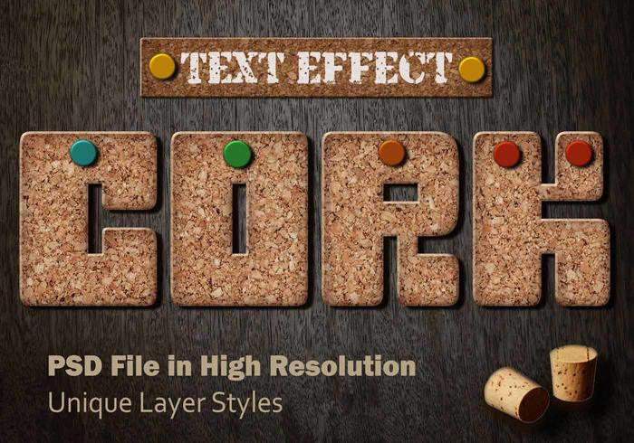 Cork Text Effect PSD Vol.9