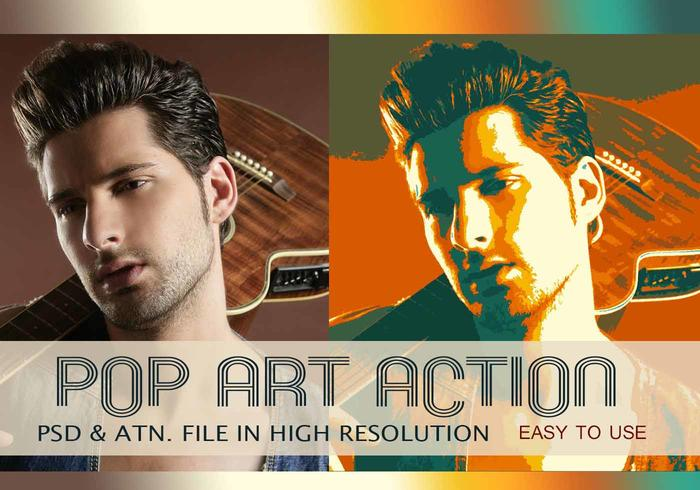 Effet photo Pop Art PSD & Action atn. Vol.2