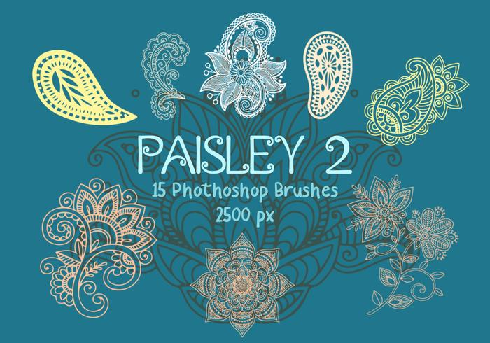 Paisley Photoshop Brushes 2