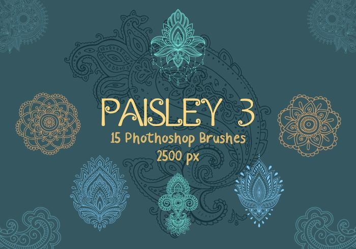 Paisley Photoshop Brushes 3