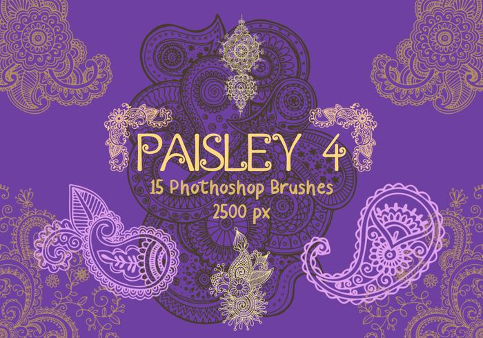 Paisley Photoshop Brushes 4
