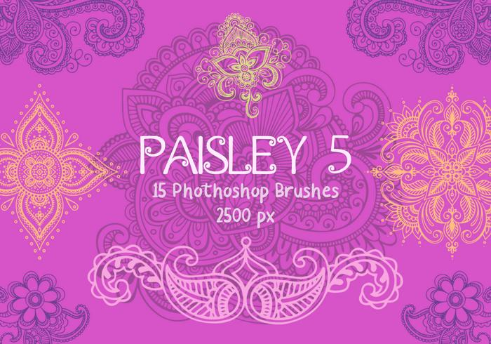 Paisley Photoshop Pinceaux 5