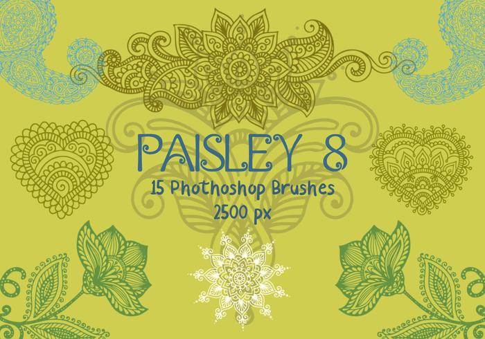 Paisley Photoshop Brushes 8