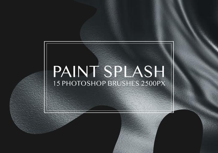 Verf Splash Photoshop-penselen