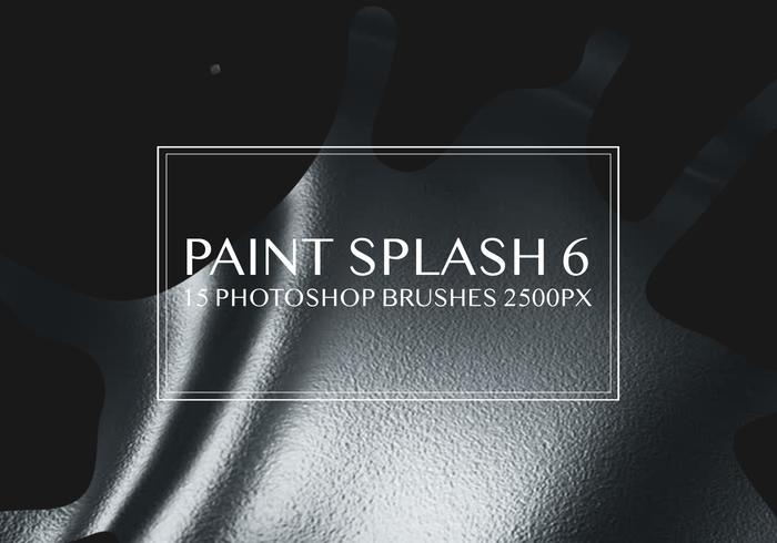 Paint Splash Pinceles para Photoshop 6