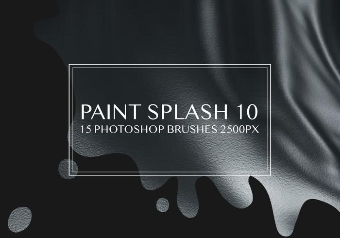 Pinte o respingo Photoshop Brushes 10
