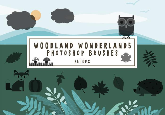 Woodland Wonderland Pinceles para Photoshop5
