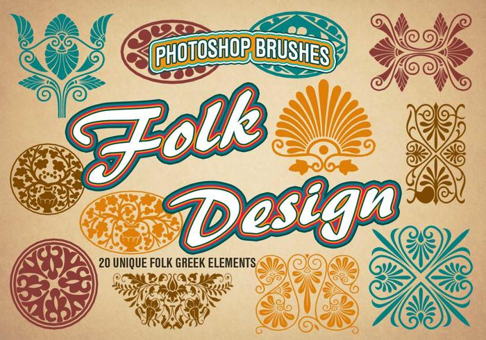 20 Folk PS Brushes abr. vol.1