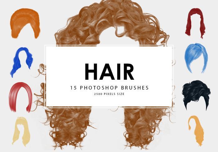 Pinceaux Photoshop pour cheveux 1