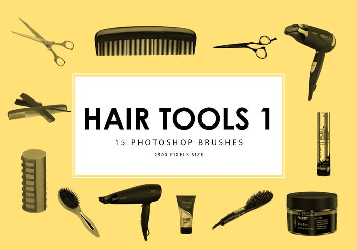 Hair Tools Photoshop Brushes 1
