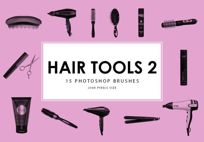 Hair Tools Photoshop Brushes 2