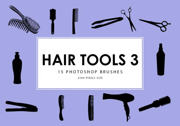 Hair Tools Photoshop Brushes 3