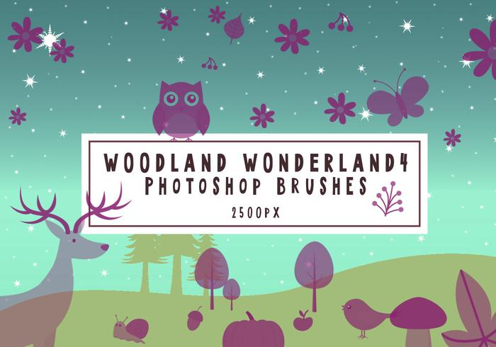 Escovas de Photoshop Woodland Wonderland4