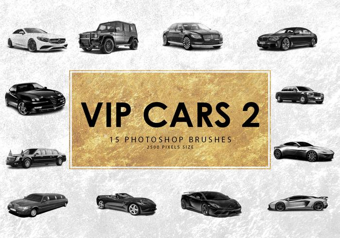 escovas do photoshop do carro do vip 2