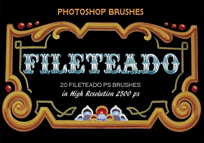 20 Fileteado PS Brushes abr. vol.4
