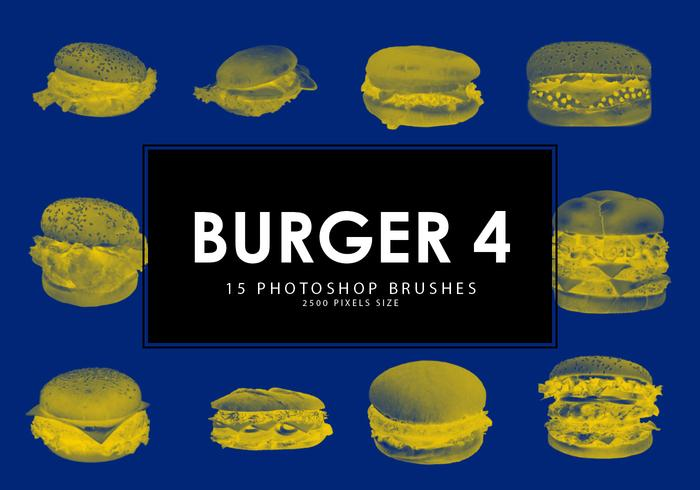 Hamburguer photoshop escovas 4