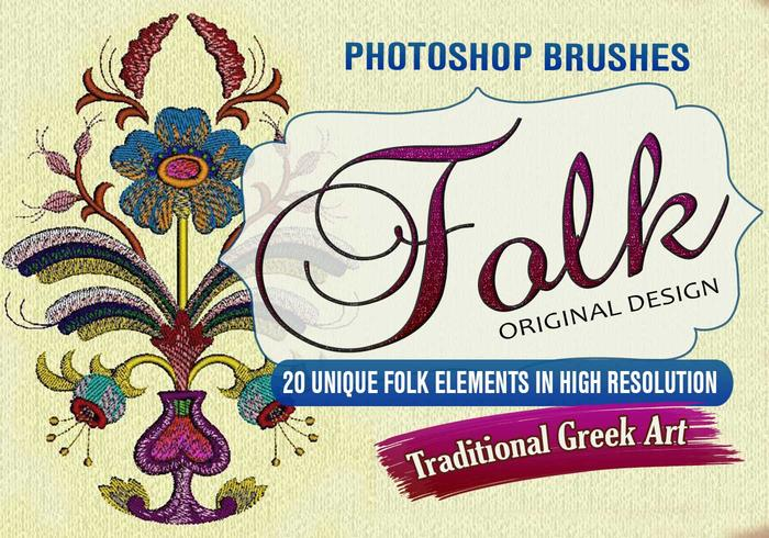 20 Folk Design PS Brushes