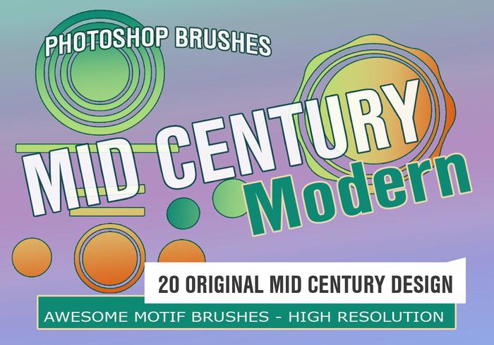 20 Mid Century Mod Motifs PS Brushes
