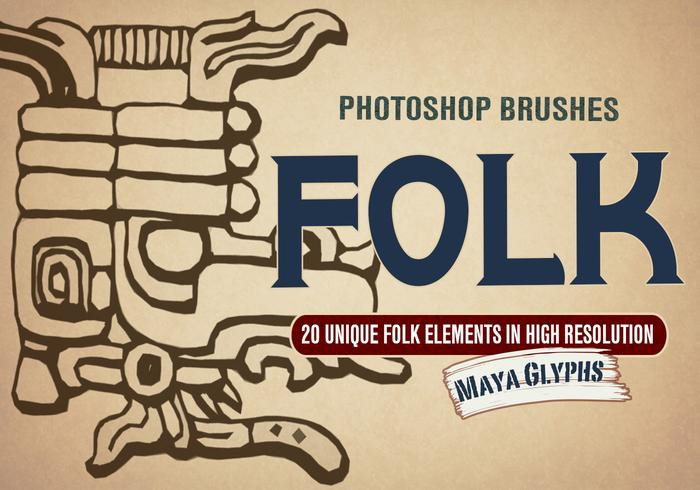 20 Folk Design PS Brushes abr.