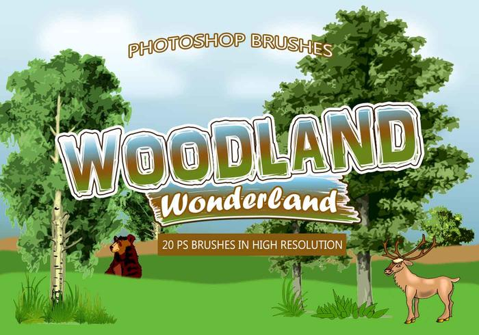 20 escobillas Woodland Wonderland PS
