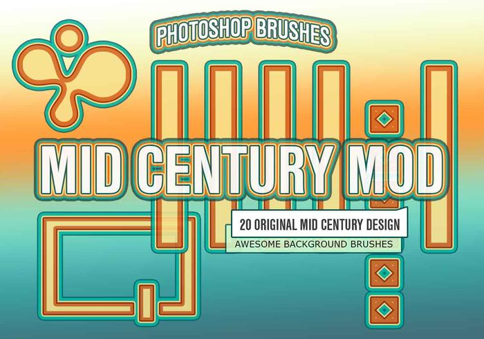 20 Mid Century Mod PS Brushes