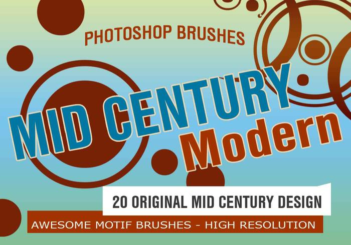 20 Mid Century Mod Motifs PS Brushes abr.