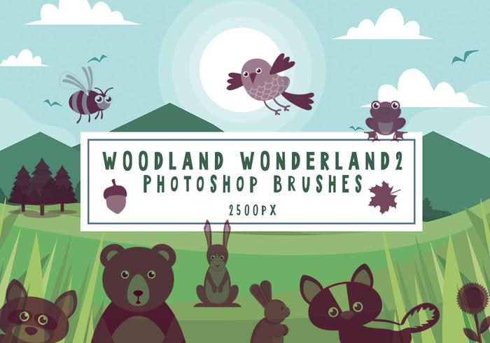 Woodland Wonderland Pinceles para Photoshop