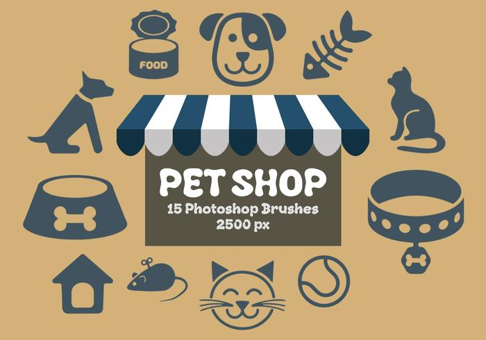 Pet Shop Photoshop Brushes