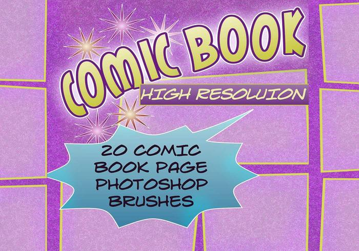 20 Comic Book Page PS Brushes abr.