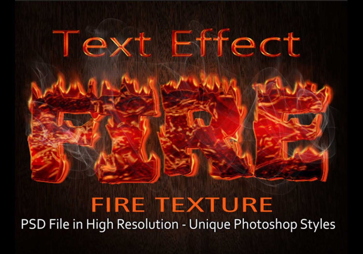Fire text effect psd file free download