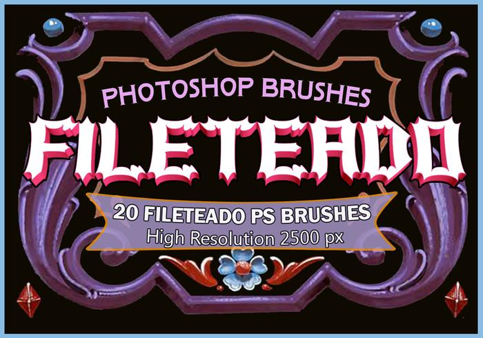 20 Fileteado PS Brushes abr.