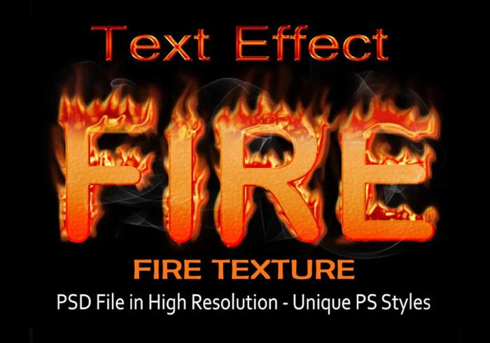 Fire Text Effect PSD file - Free Photoshop Brushes at Brusheezy!
