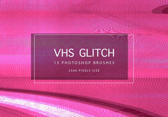 VHS Glitch-achtergronden