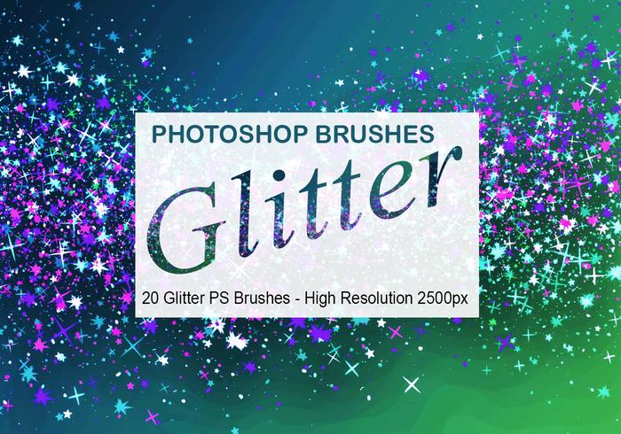 20 Glitter PS-borstels abr.