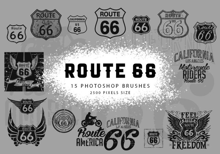 Pincéis do Photoshop Route 66